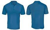 Blue Polo Shirt Template