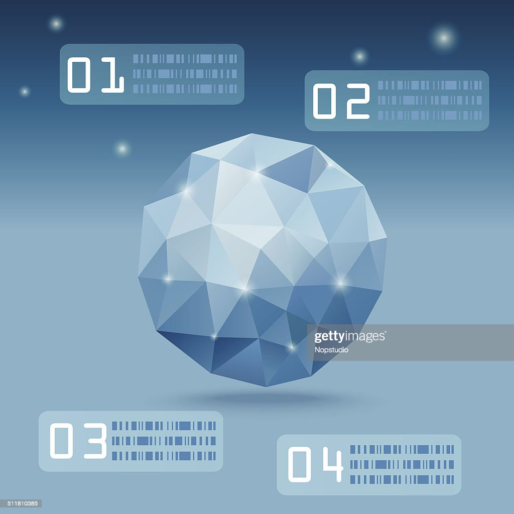 Blue Polygon vector infographic