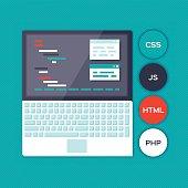 Blue Programming Laptop