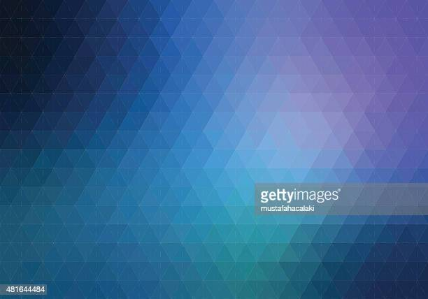 blue purple hexagon background with lines - purple stock illustrations