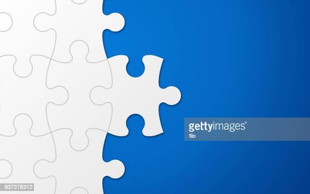 ilustrações, clipart, desenhos animados e ícones de fundo de peça do puzzle azul - autismo