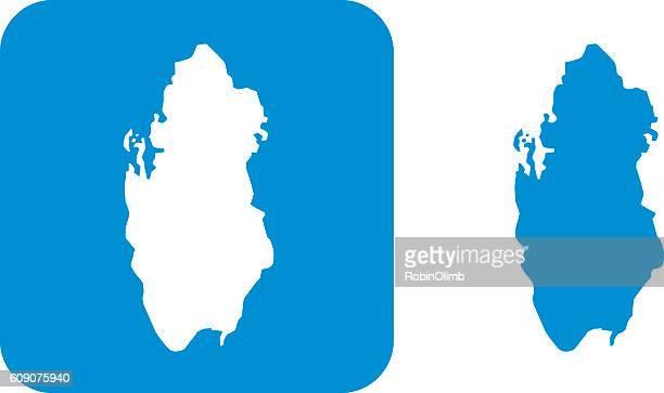 ilustrações, clipart, desenhos animados e ícones de blue qatar icons - qatar