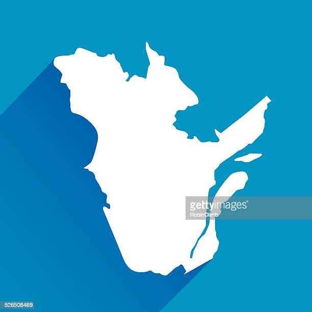 blue quebec map icon - quebec stock illustrations
