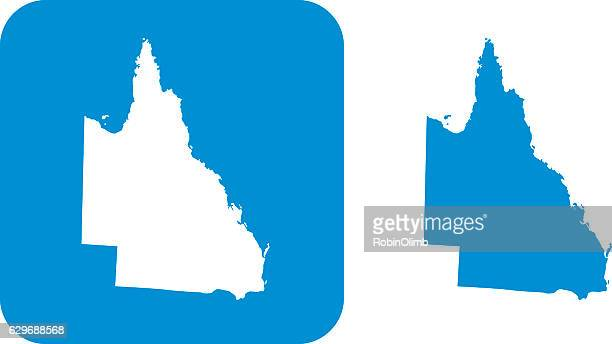 blue  queensland icons - queensland stock illustrations
