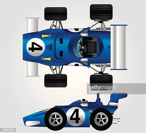 blue race car - individual event stock illustrations