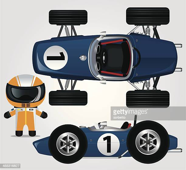 ilustraciones, imágenes clip art, dibujos animados e iconos de stock de azul coches de carrera - piloto de coches de carrera