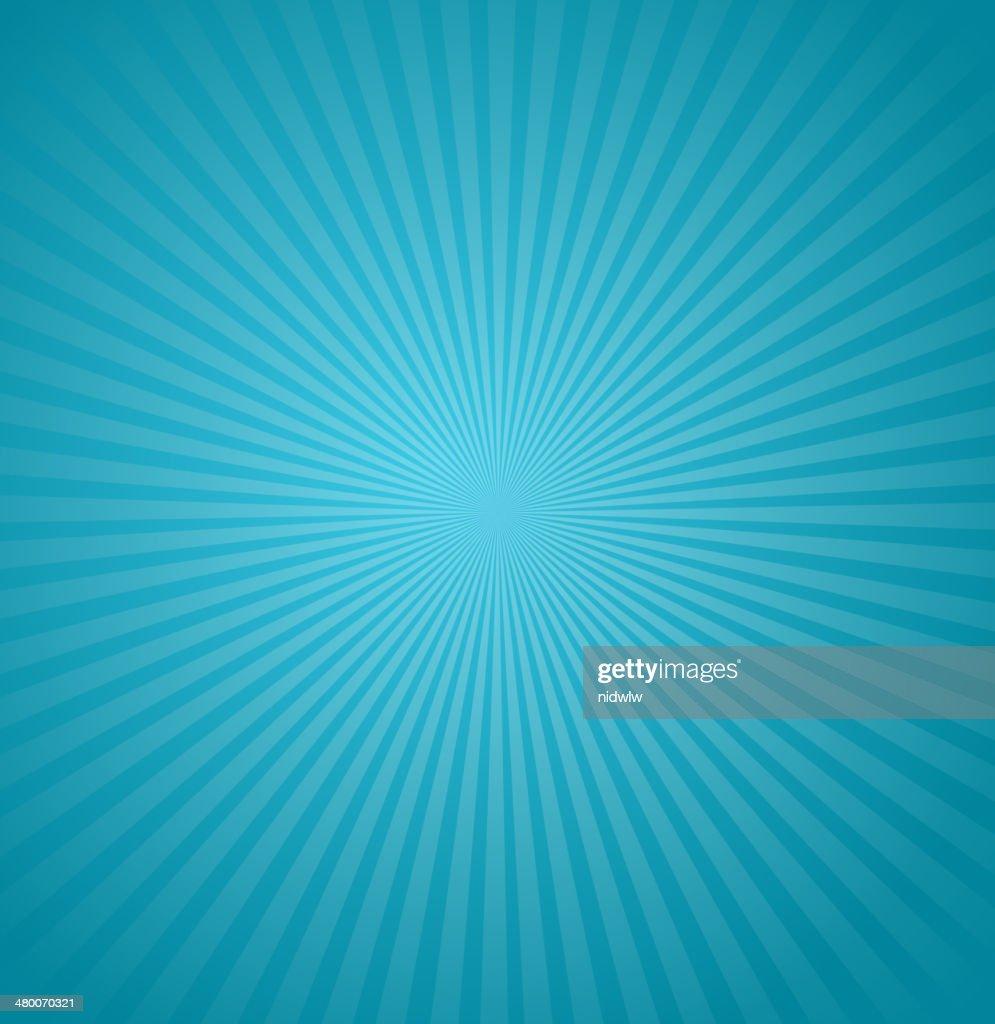 Blue rays background. Burst Vector illustration