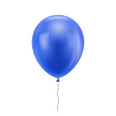 Blue realistic balloon