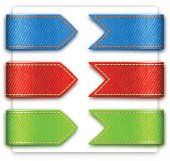 Blue, red and green textures in bookmarks
