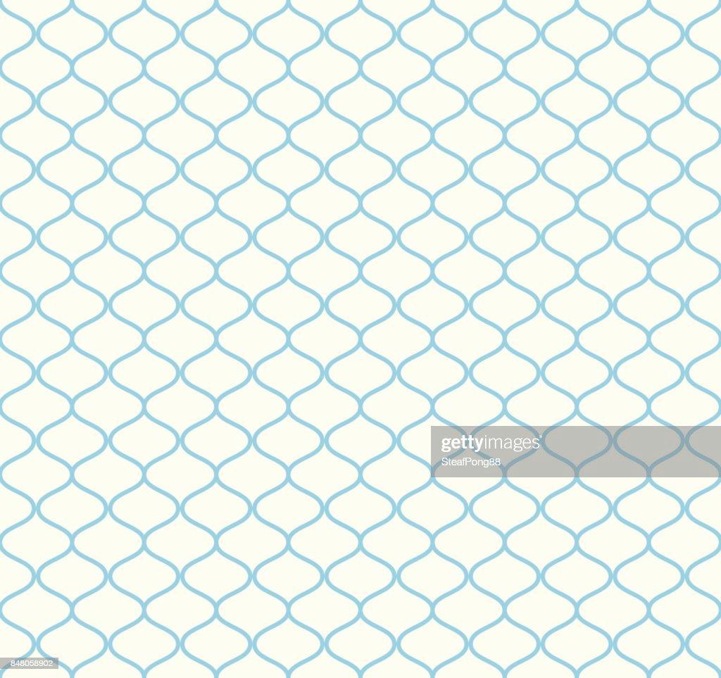 Blue Retro Net Seamless Pattern on Pastel Background