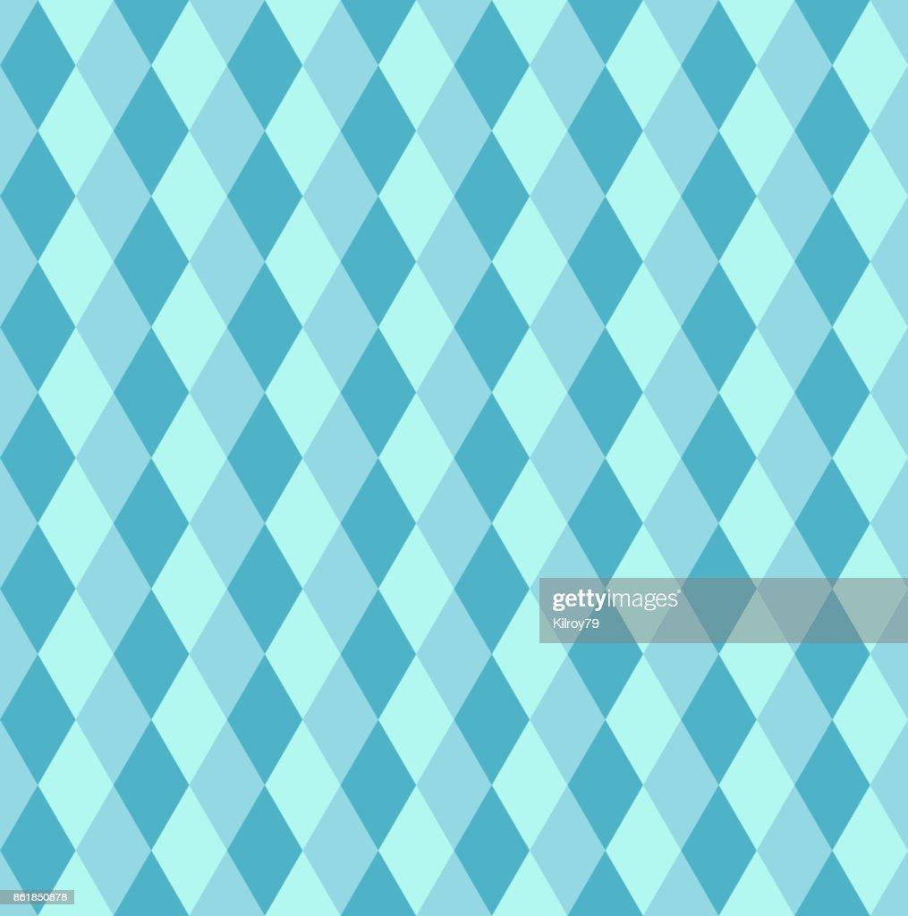 Blue rhombus seamless retro pattern