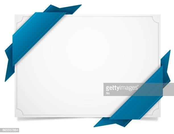 blue ribbon tag label - schriftnachricht stock-grafiken, -clipart, -cartoons und -symbole