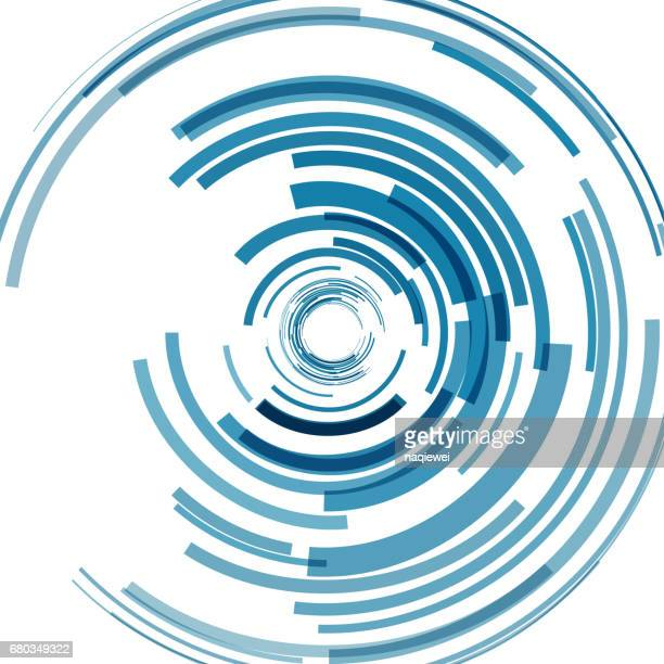 Blue ring pattern background