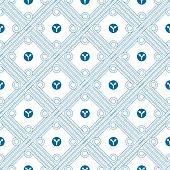 Blue roads pattern