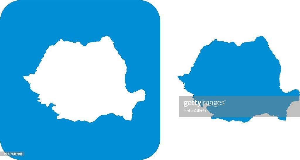 Blue Romania Icons