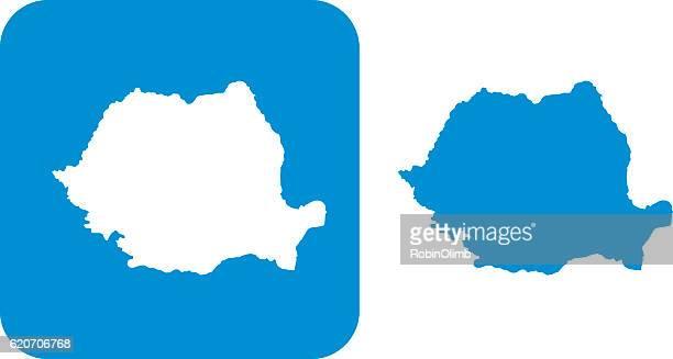blue romania icons - romania stock illustrations