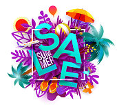 Blue Sale symbol summer season