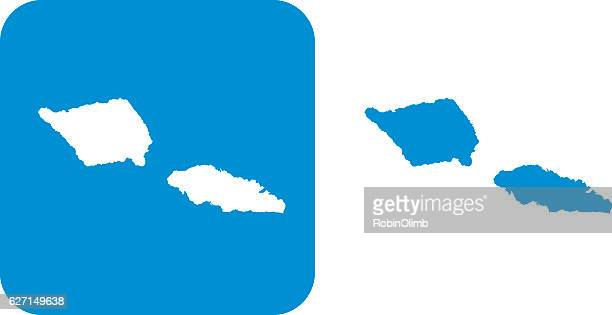 blue samoa icons - samoa stock illustrations, clip art, cartoons, & icons