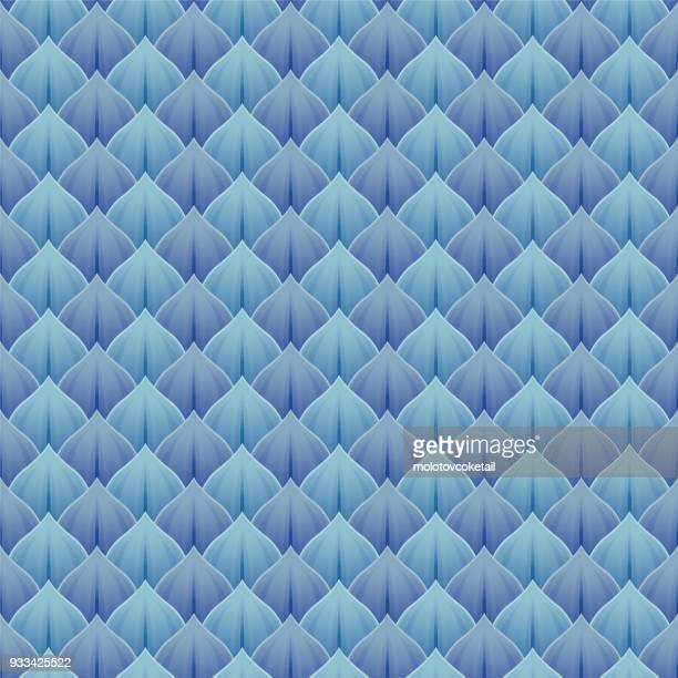 blue scales seamless pattern background - animal scale stock illustrations, clip art, cartoons, & icons