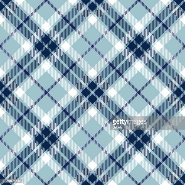 ブルー スコティッシュ タータン プレイド アーガイル テキスタイル パターン - アーガイル模様点のイラスト素材/クリップアート素材/マンガ素材/アイコン素材