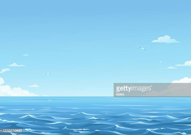 blue sea background - sea stock illustrations