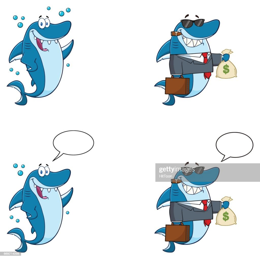Blue Shark Character 9. Collection Set