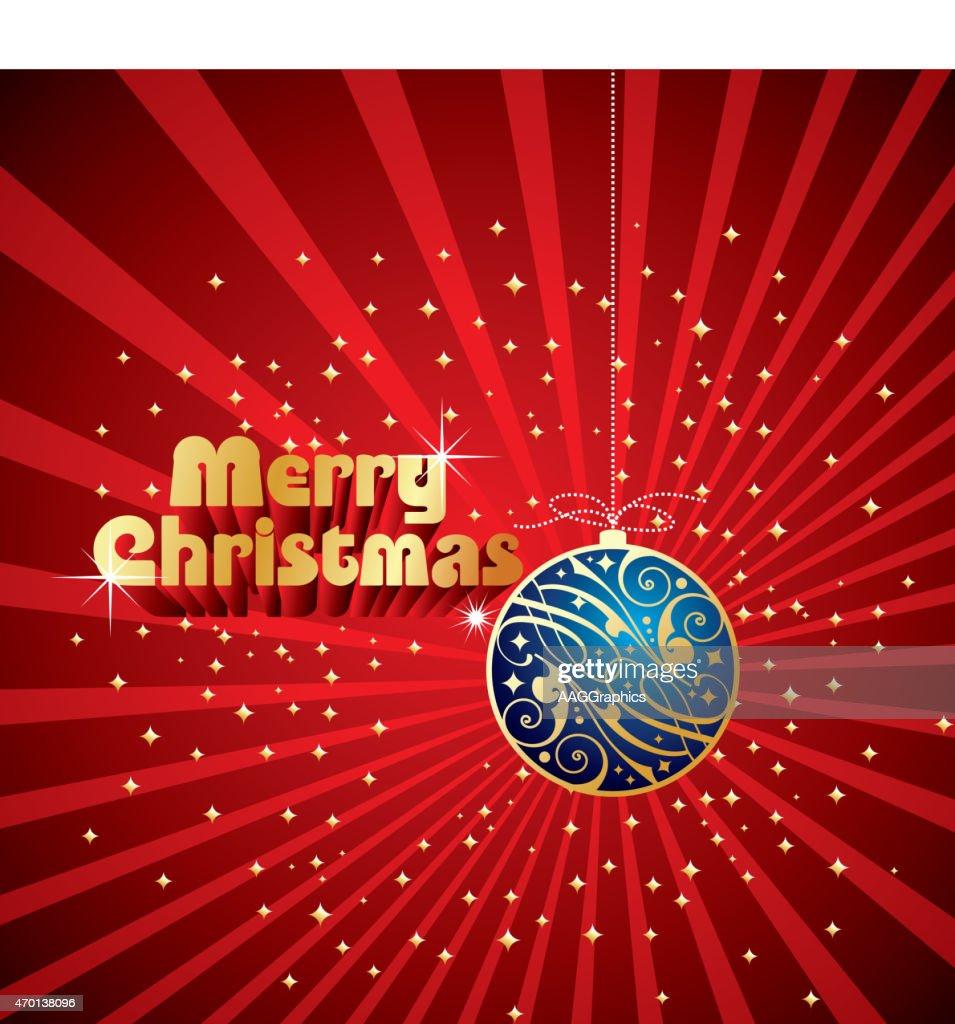 blue shining vector Christmas ball