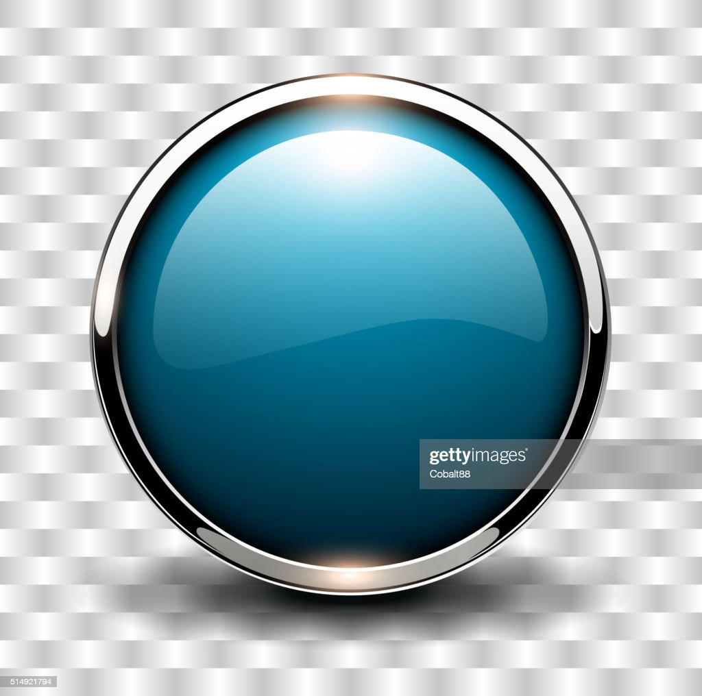Blue shiny button