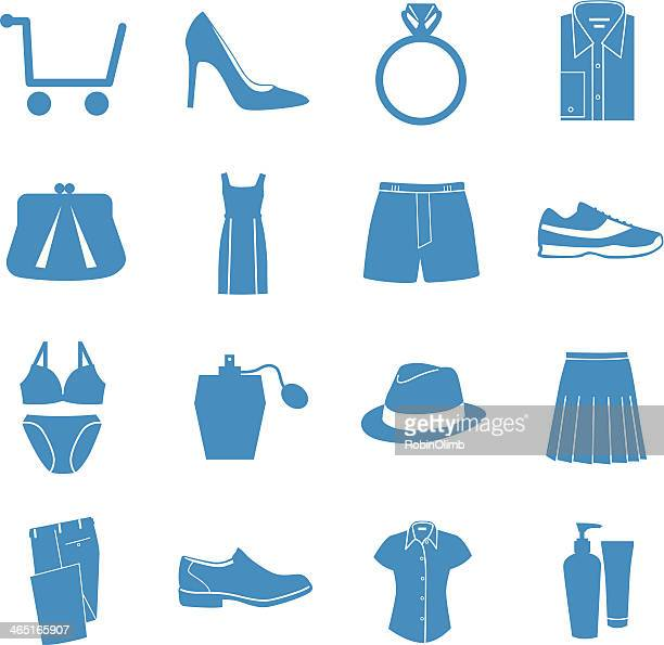 Blue Shopping Icons
