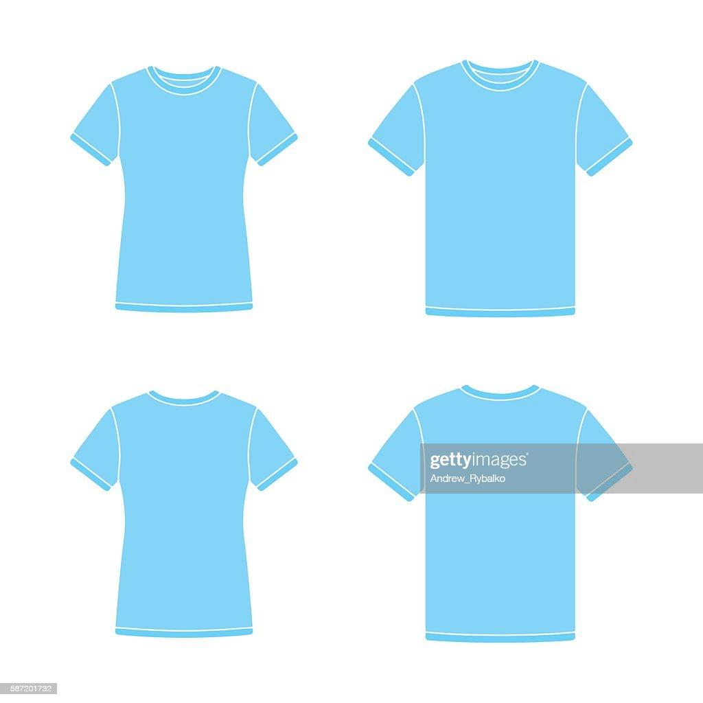 Blue short sleeve t-shirts templates