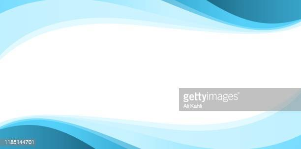 illustrazioni stock, clip art, cartoni animati e icone di tendenza di blue simple abstract background - ricciolo