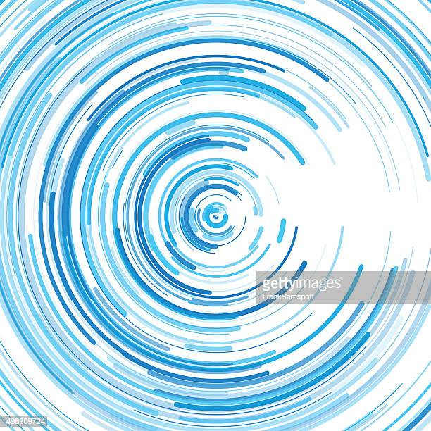 Blue Sky Concentric Circle Pattern