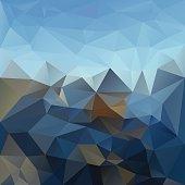 blue sky mountain horizon polygonal triangular pattern background