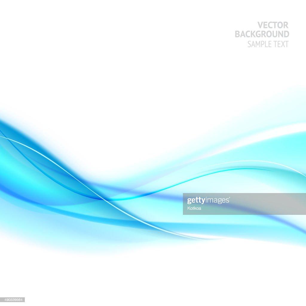 Blue smooth light lines