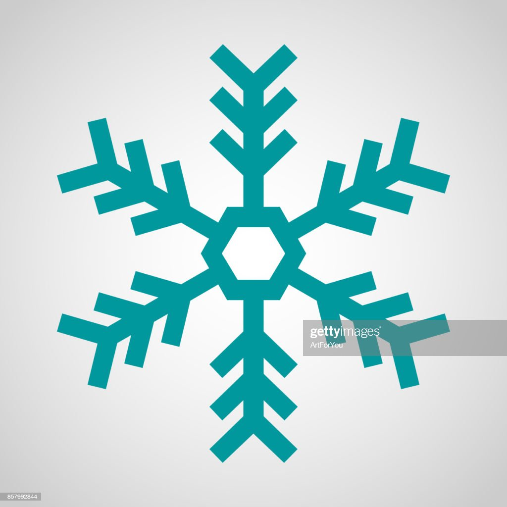 Blue Snowflake Icon - Christmas, Winter, Cold