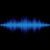 Blue sound waveform with triangular light filter
