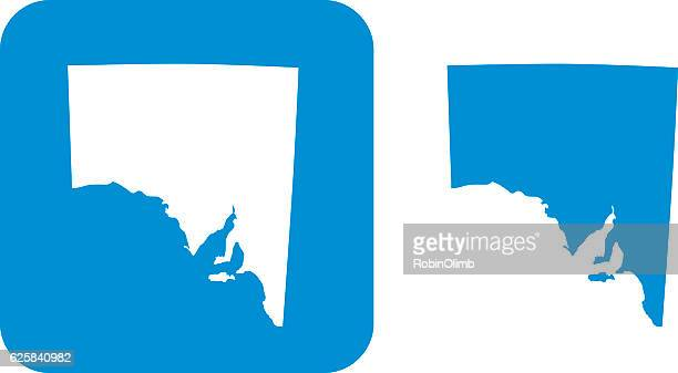 blue south australia icons - south australia stock illustrations