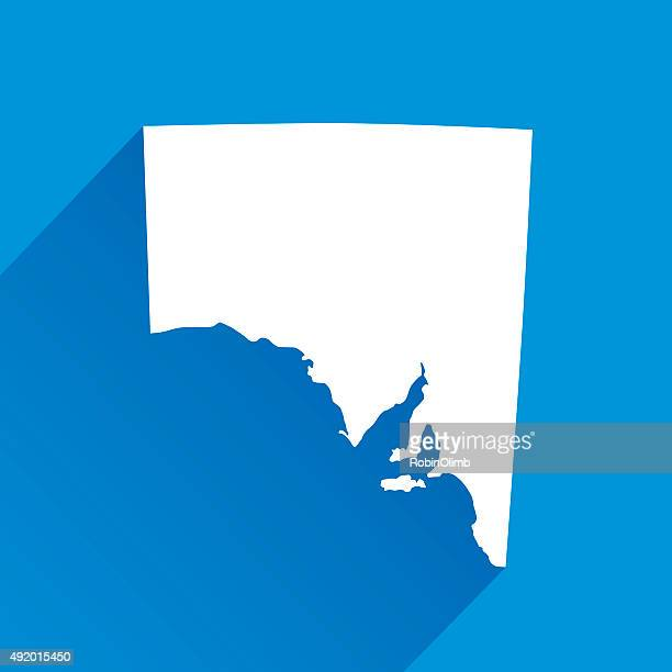 blue south australia map icon - south australia stock illustrations