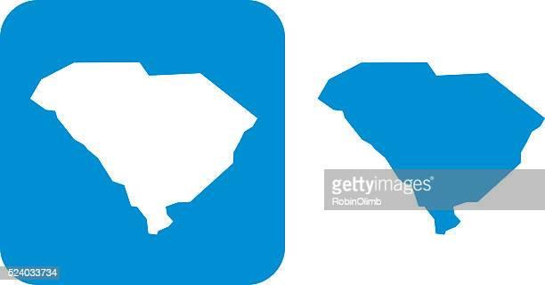 blue south carolina icon - south carolina stock illustrations