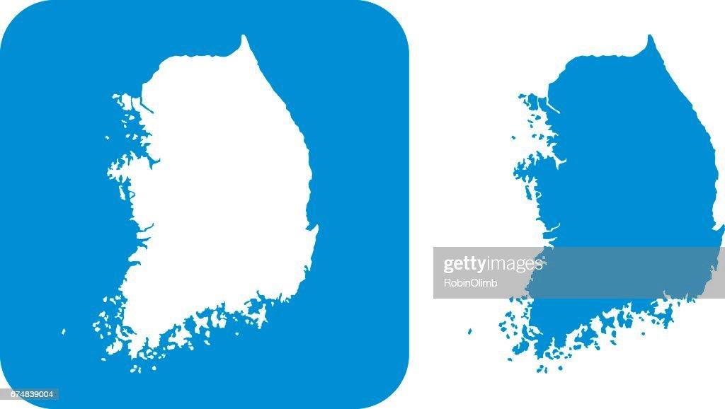 Blue South Korea Icons