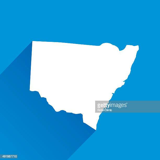 blue south wales map icon - new south wales stock illustrations