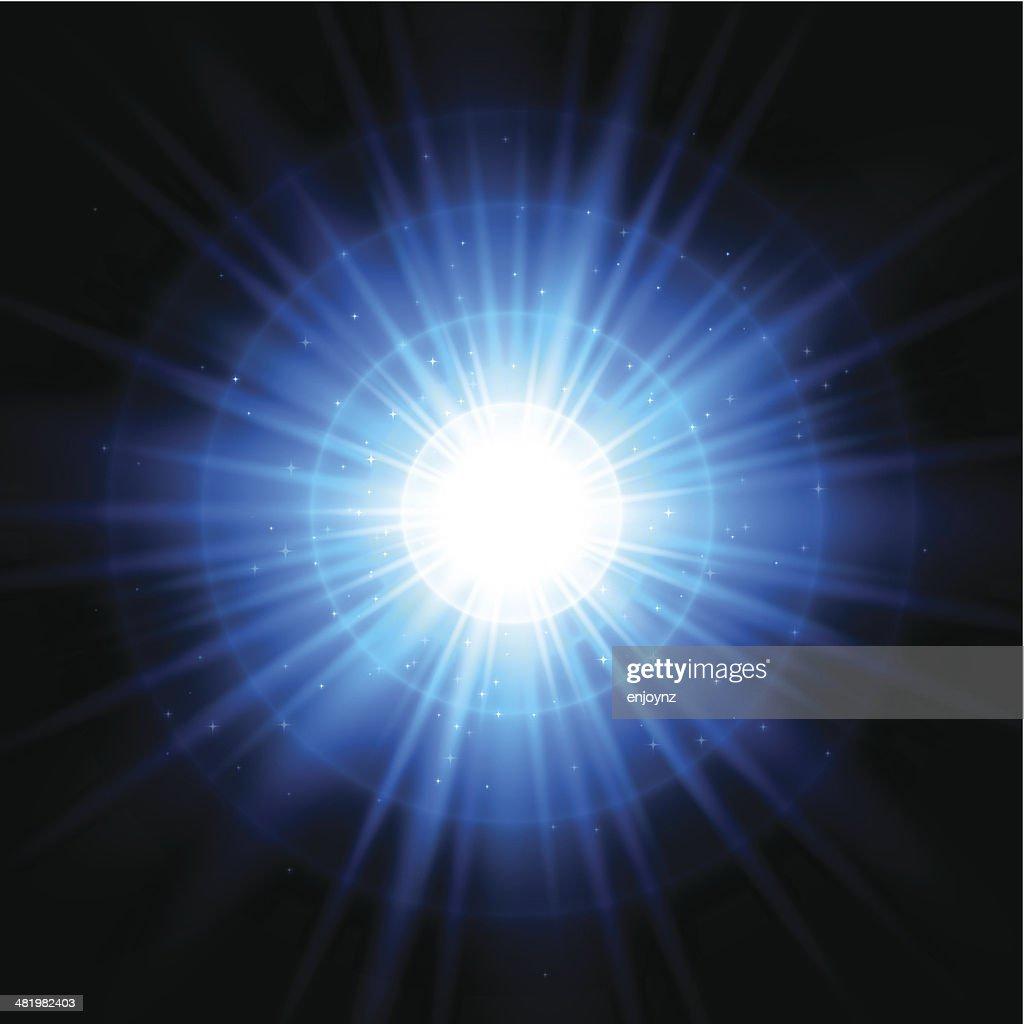 Blue space starburst background : stock illustration