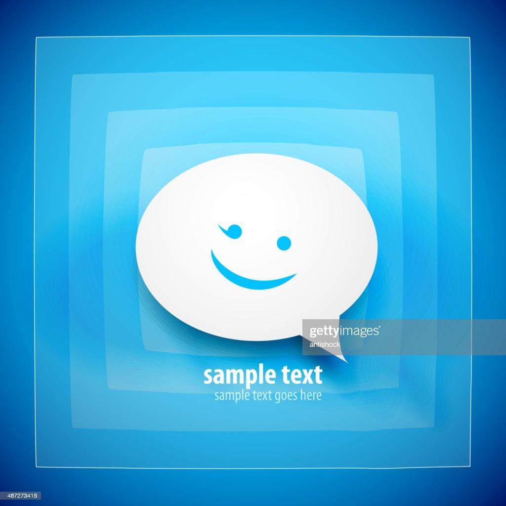 Blue speech bubble background