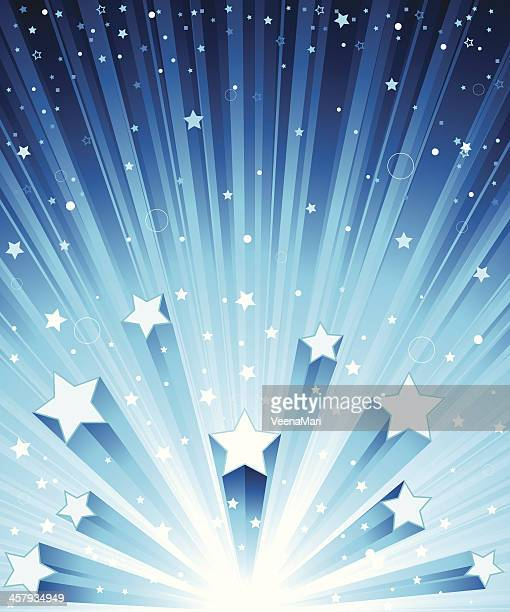 Blue Star Exploding Background