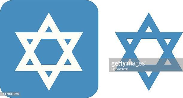 Blue Star Of David Icon
