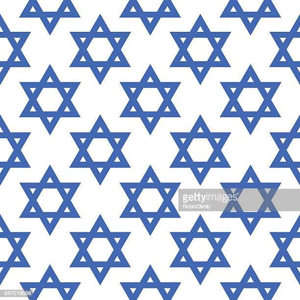 Blue Star Of David Pattern