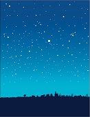 blue starry night vertical