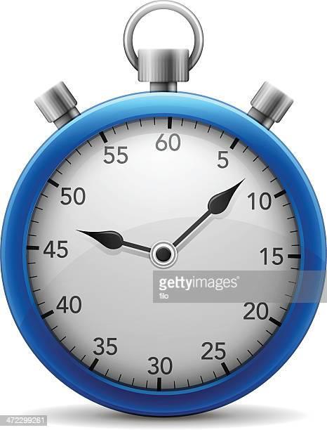 ilustrações, clipart, desenhos animados e ícones de blue cronômetro - cronômetro instrumento para medir o tempo
