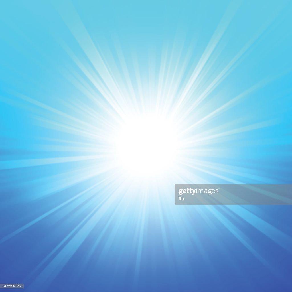 Verano azul brillo : Ilustración de stock
