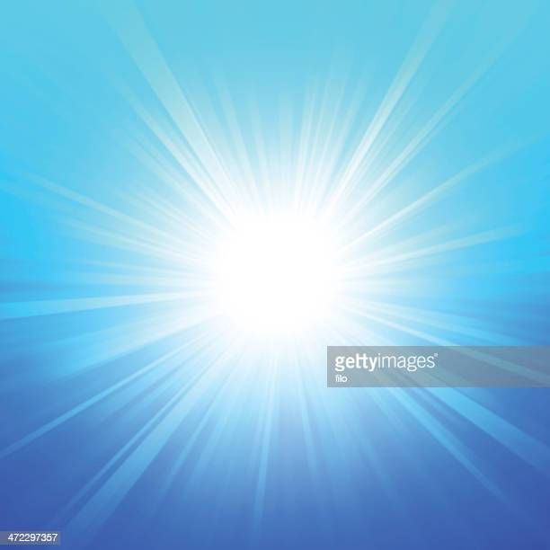 blue summer glow - igniting stock illustrations